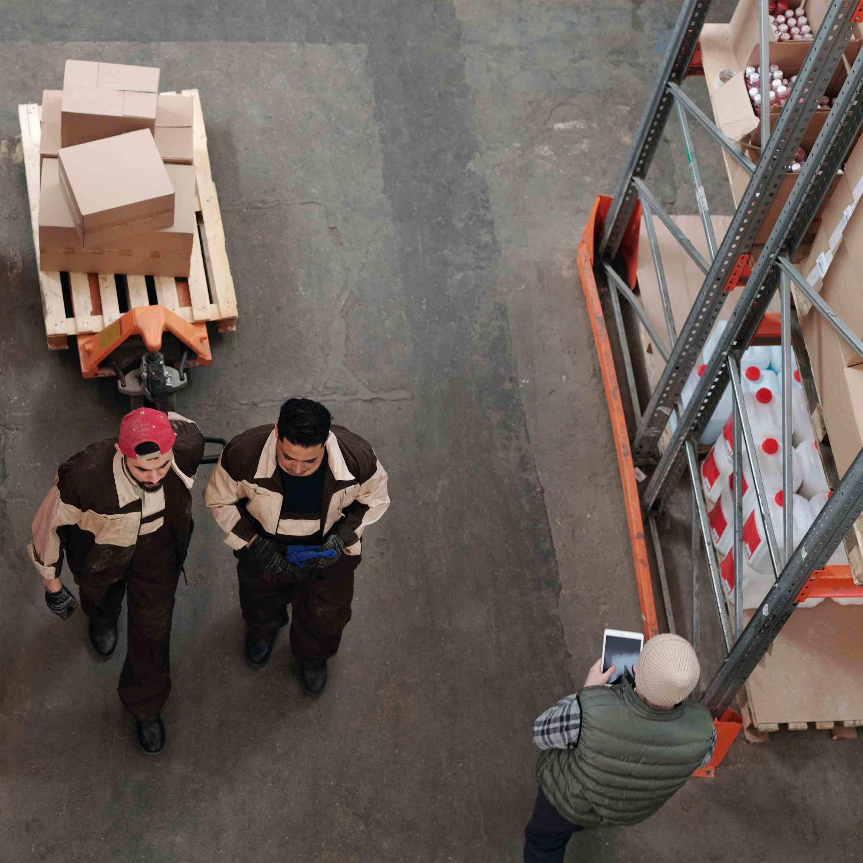 People 2 men warehouse interior 3000x3000